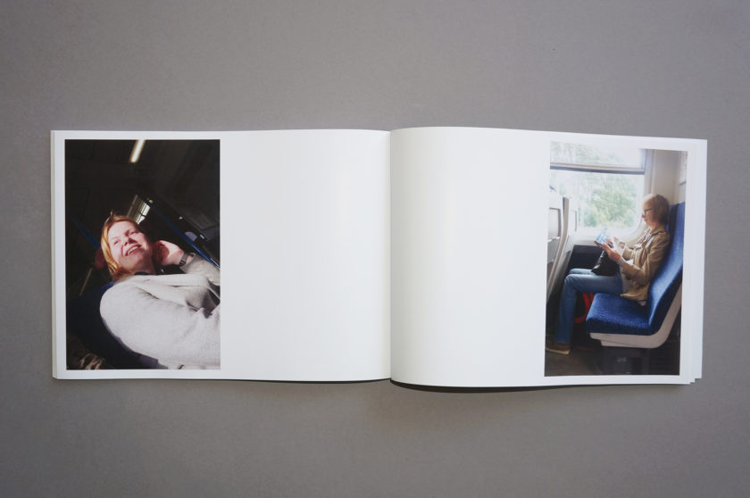 straingers by while there is light - train strangers photobook spread